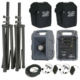 Voice Machine VM2 UHF Wireless Bodypack Dual Deluxe Package by Sound Projections