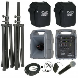 Voice Machine VM2 UHF Handheld and Bodypack Dual Deluxe Package by Sound Projections