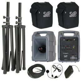 Voice Machine VM2 UHF Wireless Bodypack Deluxe Package by Sound Projections