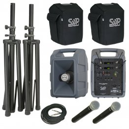 Voice Machine VM2 UHF Wireless Handheld Mic Dual Deluxe Package by Sound Projections